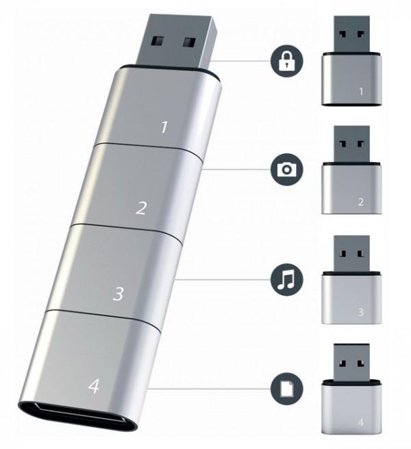 Amoeba modular USB