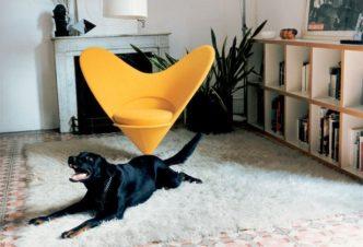 С любовью от Verner Panton. Heart Cone Chair