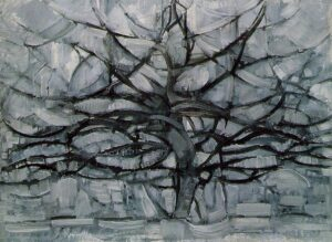 5 деревьев Пита Мондриана | The Gray Tree, 1912 by Piet Mondrian