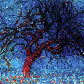 5 деревьев Пита Мондриана | The Red Tree, 1908 by Piet Mondrian