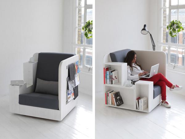 OpenBook - кресло-библиотека