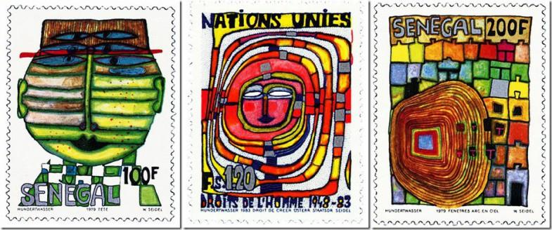 Хундертвассер и энергия творчества_дизайн почтовых марок