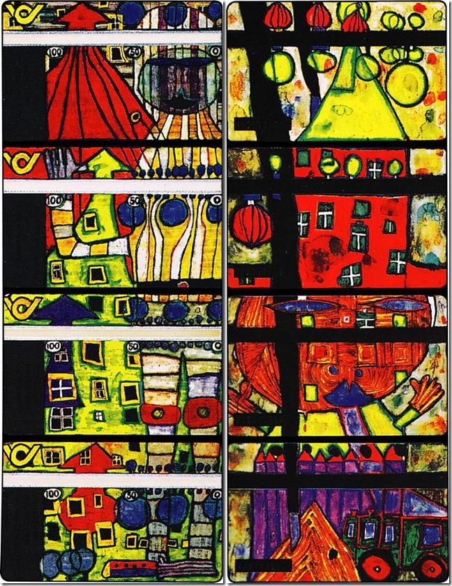 Хундертвассер и энергия творчества_дизайн телефонных карточек