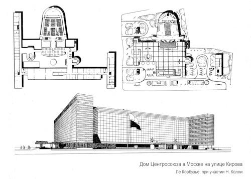 Московский «Центросоюз» и принцип пяти от Ле Корбюзье || proBauhaus.ru