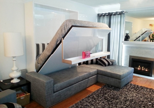 Кровать Bauhaus с угловым диваном