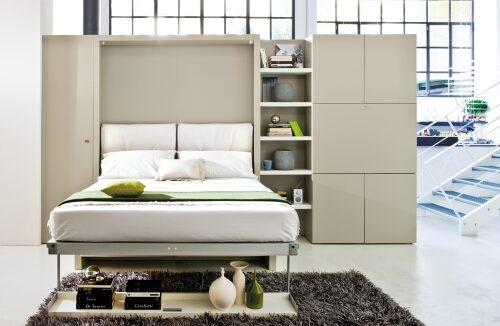 кровать Bauhaus с диваном и шкафом