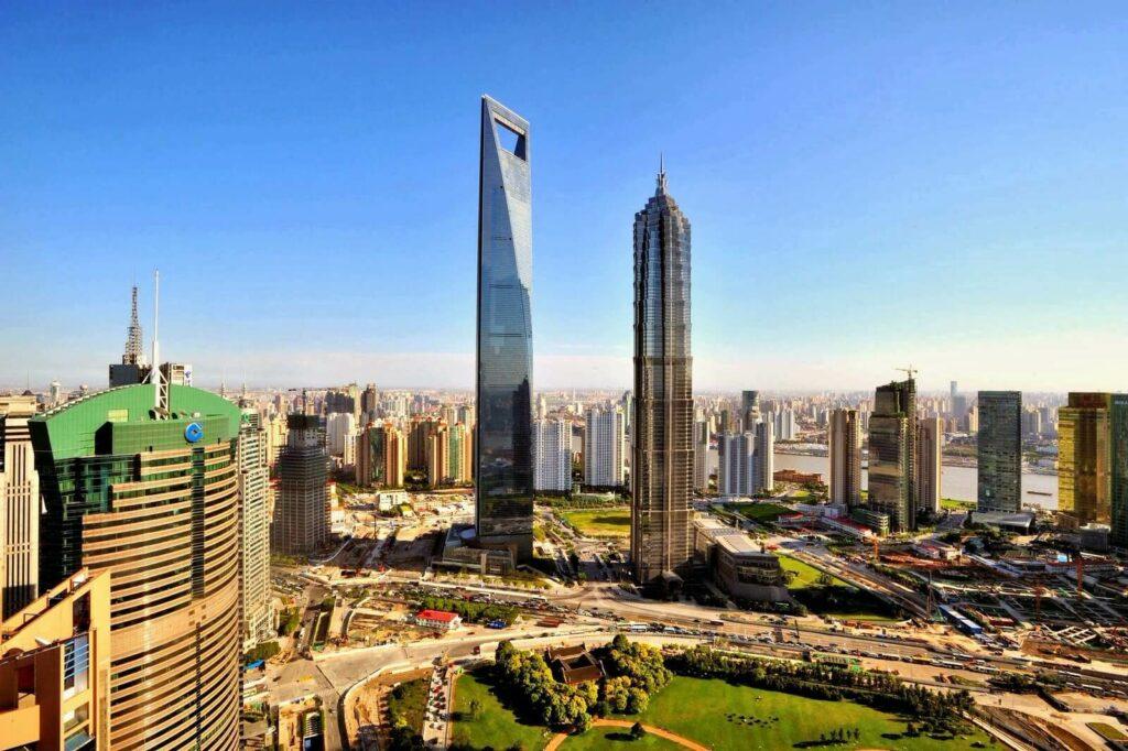 Небоскреб Шанхая.  Всемирный финансовый  центр